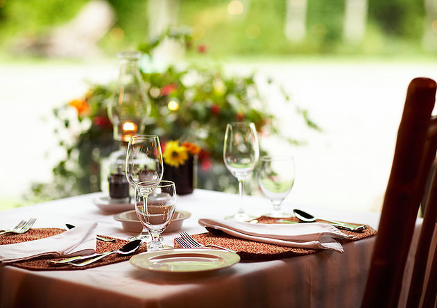 Table setting next to window